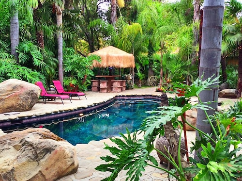 Magical Tropical Lodge & Lagoon With 4 Fireplaces 2 Jungle Spas and 5 Bedrooms