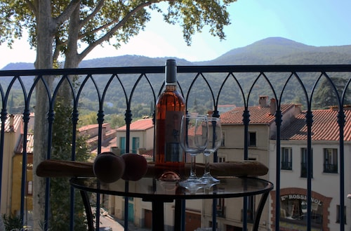 Sun-filled Apt, Centre Old Ceret, Spectacular Balcony View