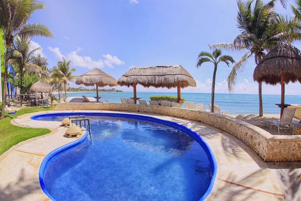 Oceanfront Beach Level Pool Snorkel Ac Walk To Beach Bars