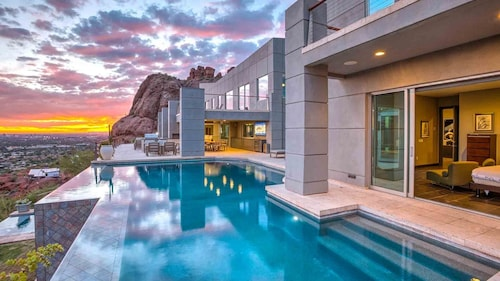 Private Resort 8 Bdrms w/ Movie Theater! 10 Million Dollar Mansion on Camelback