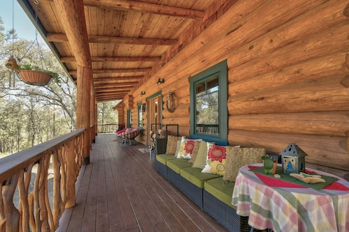 Beautiful Log Home on 6 Acres With 30 Foot Ceilings and Creek
