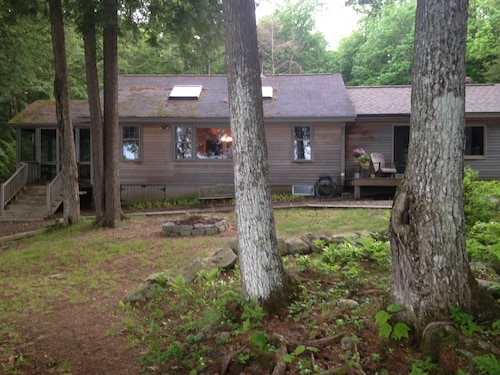 Great Place to stay Parker Pond Retreat - Private Lakeside Home near Chesterville