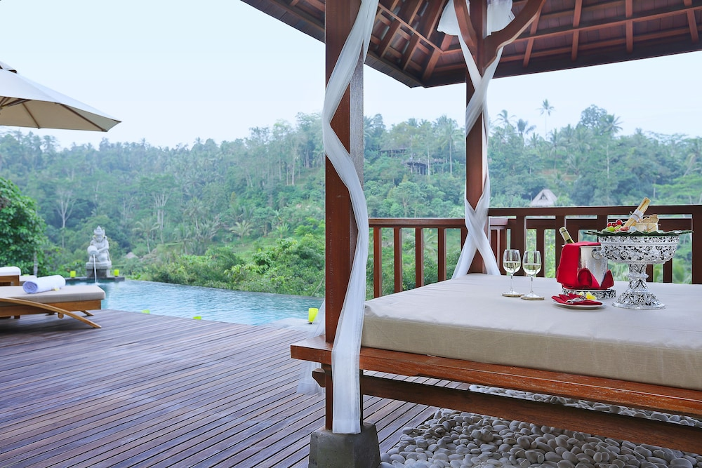 View from Room, The Kayon Jungle Resort by Pramana