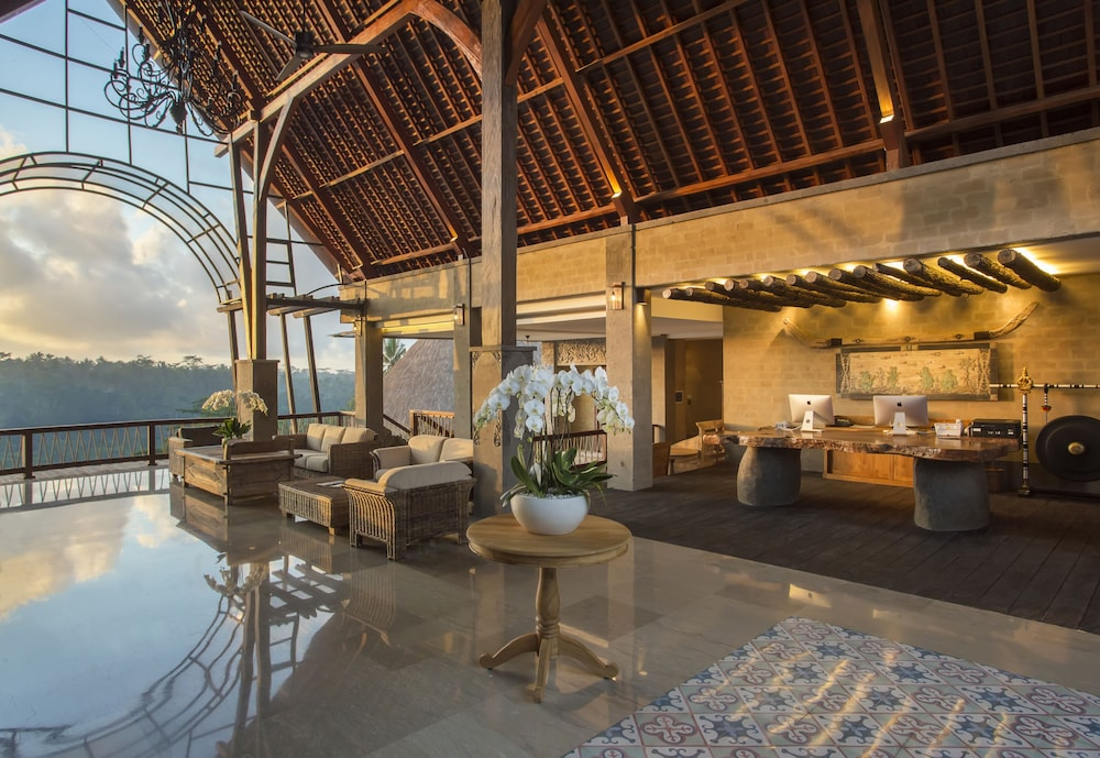 Reception, The Kayon Jungle Resort by Pramana