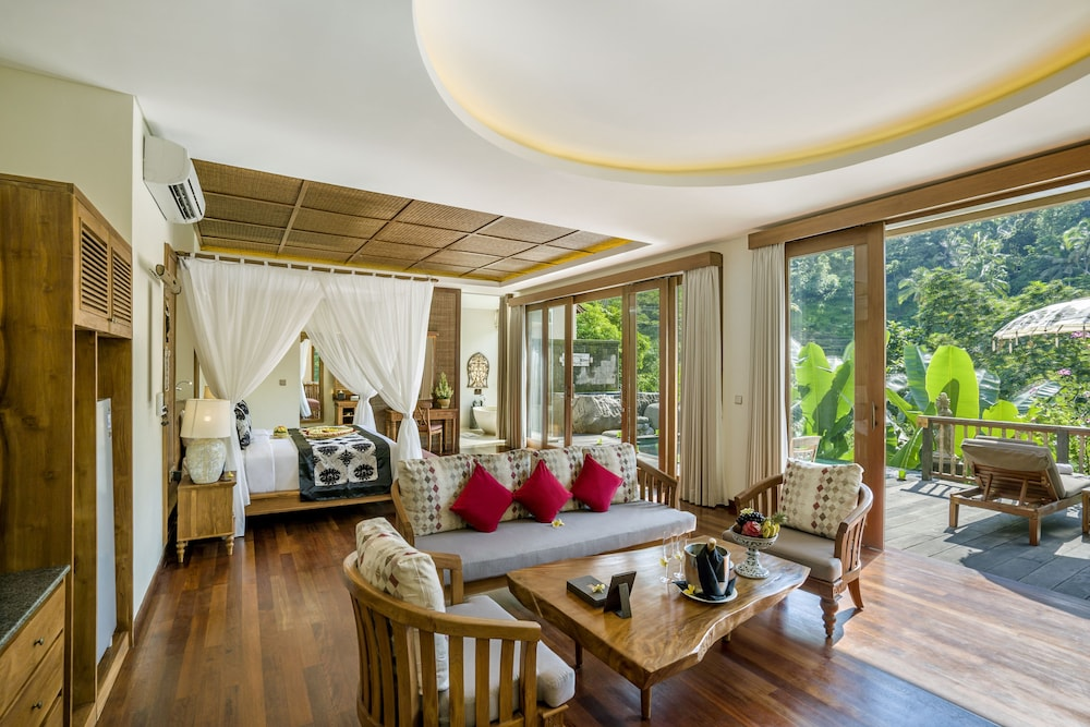 Living Room, The Kayon Jungle Resort by Pramana