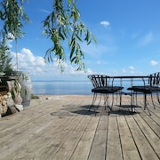 Love North Shore Cherry Cove Beachfront On West Grand Traverse Bay In Leelanau !