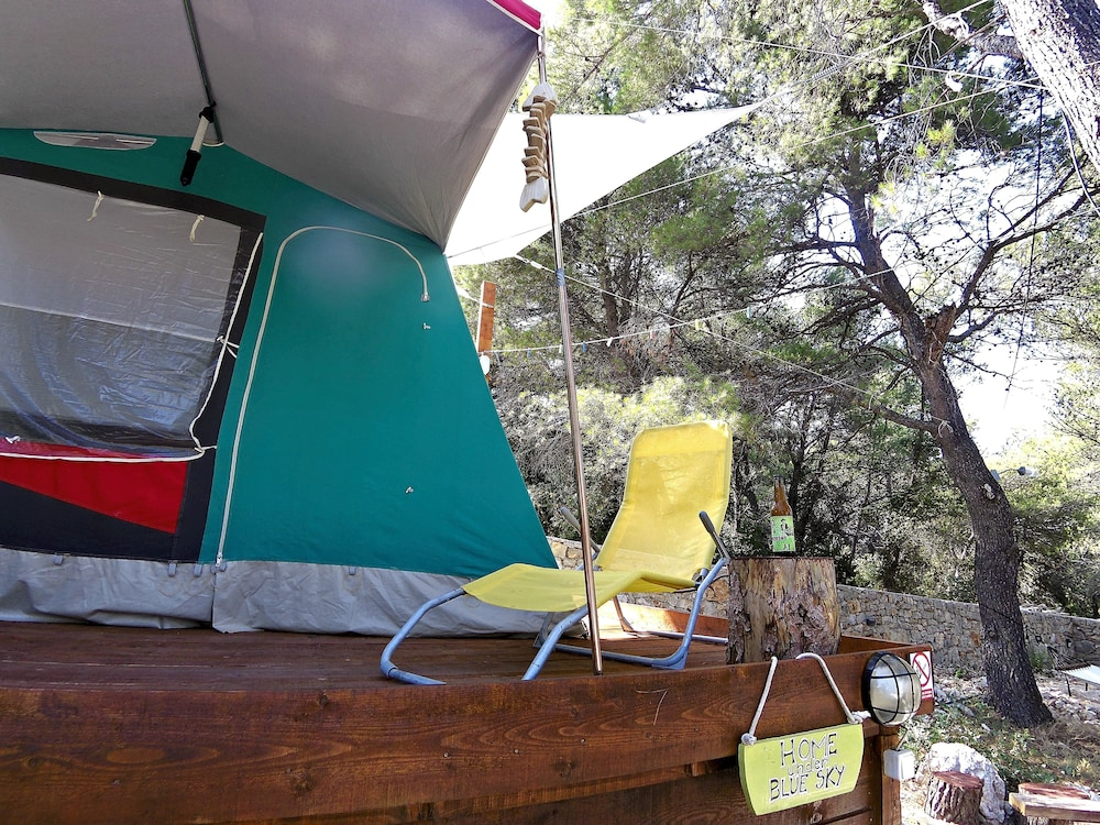 extra Price! / June in Amazing Camping Place With BIG Tend Near SEA