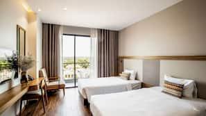 Premium bedding, pillowtop beds, minibar, individually furnished