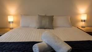 2 bedrooms, premium bedding, pillow-top beds, individually decorated