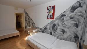 2 개의 침실, 무료 WiFi, 침대 시트