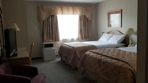Individually furnished, desk, blackout drapes, cribs/infant beds