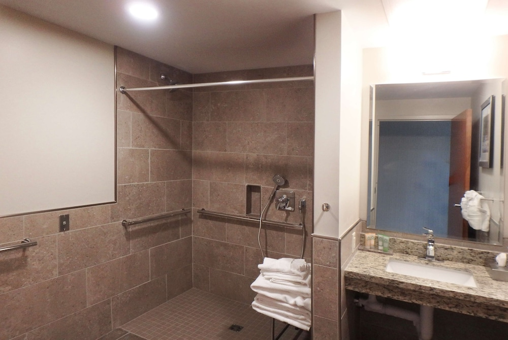 Accessible bathroom, Wyndham Garden State College