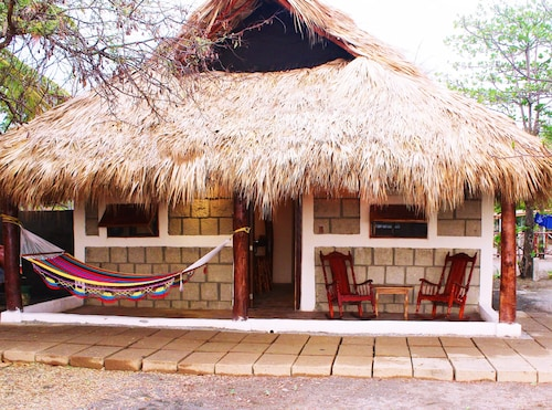 La Casita Nica. In Front Of The House Lies One Of The Best Waves In Nicaragua