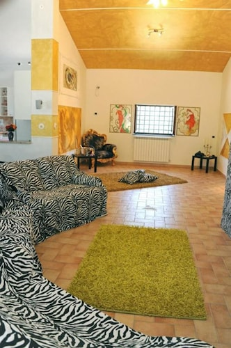 Living Room, Domus Mariae Infinity  Swimming Pool, SPA, Not Shared Near Rome Fiuggi Golf