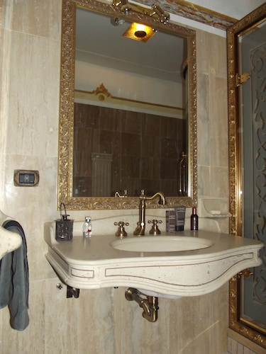 Bathroom, Domus Mariae Infinity  Swimming Pool, SPA, Not Shared Near Rome Fiuggi Golf