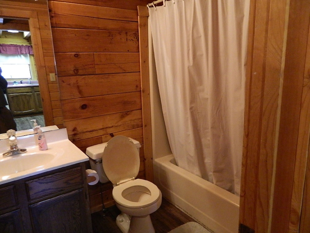 Bathroom, Gatlinburg Getaway For Two { Log Cabin }