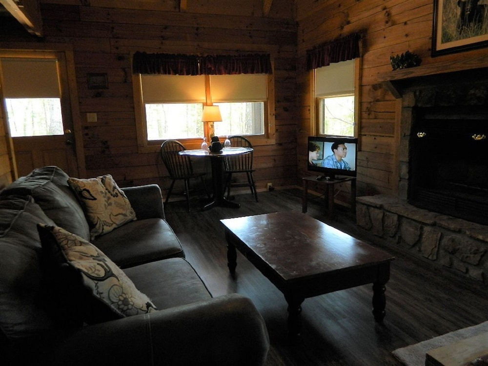Living Room, Gatlinburg Getaway For Two { Log Cabin }