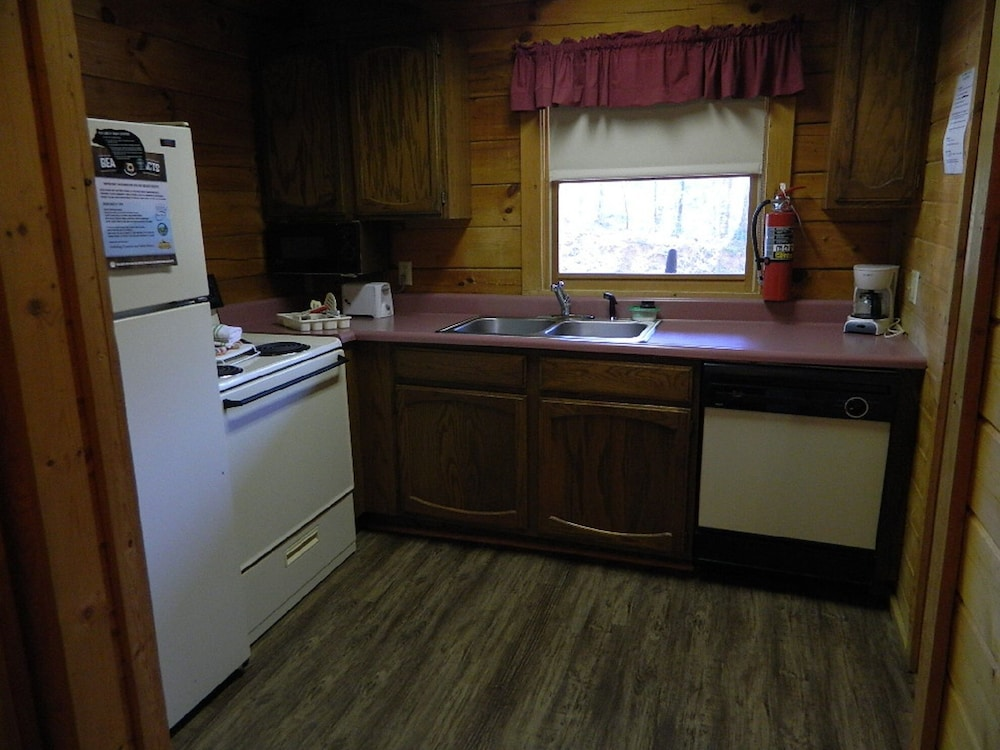 Private Kitchen, Gatlinburg Log Cabin Rental For Two