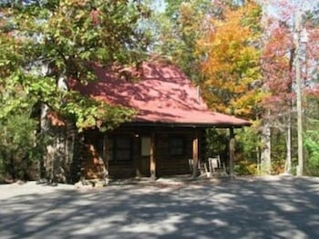 Exterior, Gatlinburg Log Cabin Rental For Two
