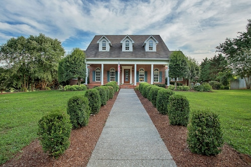 NEW Listing! Meticulously-maintained Estate on 11 Private Acres W/pool & Trails