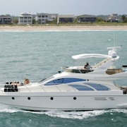 50 Foot Azimut Italian Luxury Motor Yacht Sleeps 6 Port City Marina Wilmingtonnc