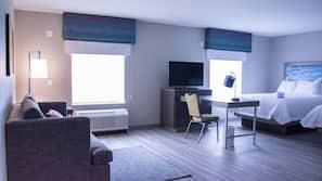 Tallelokero huoneessa, työpöytä, silitysrauta/-lauta