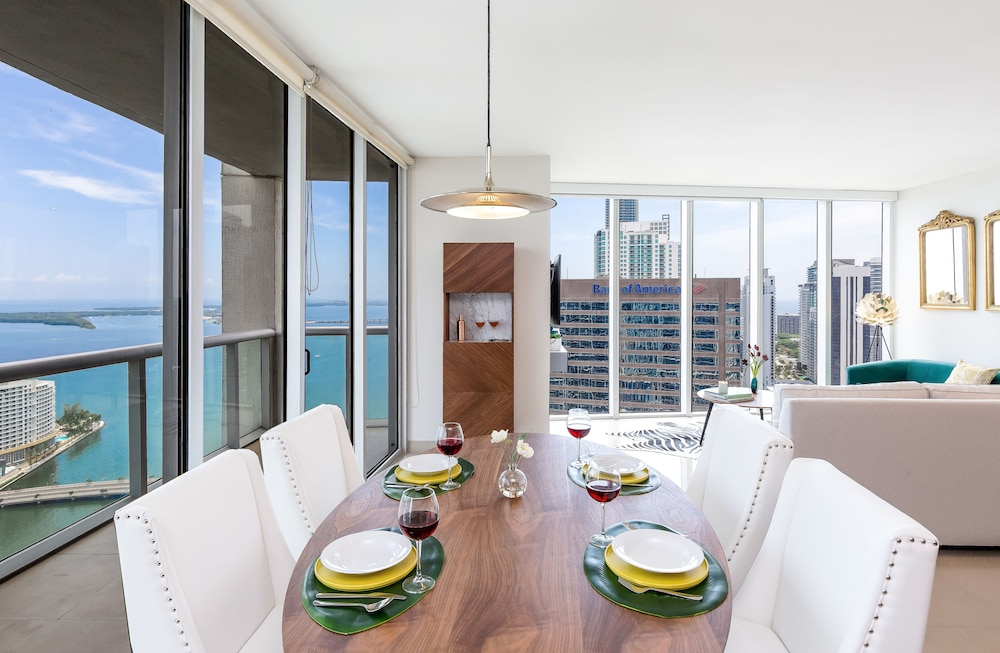 Living Area, Brickell by Miami Vacation Rentals