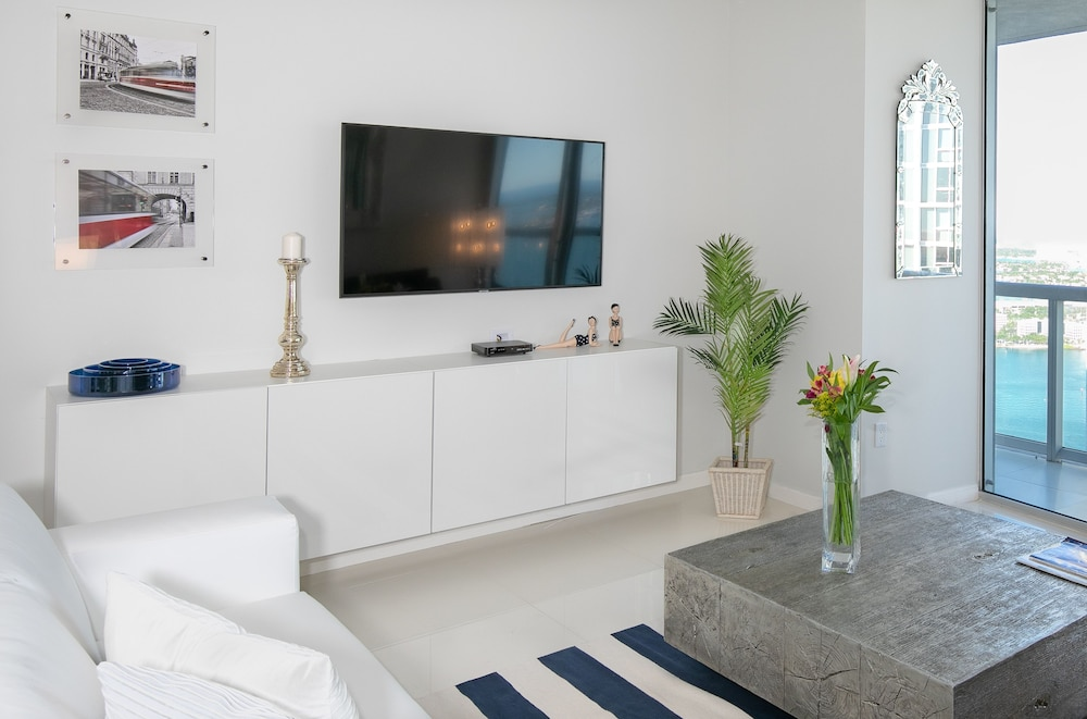 Living Room, Brickell by Miami Vacation Rentals