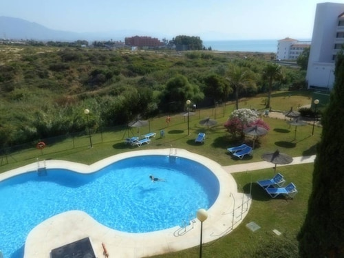 Apartment With 2 Bedrooms in Manilva, With Wonderful sea View, Pool Access, Enclosed Garden - 100 m From the Beach