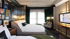 Premium bedding, pillowtop beds, in-room safe, individually decorated