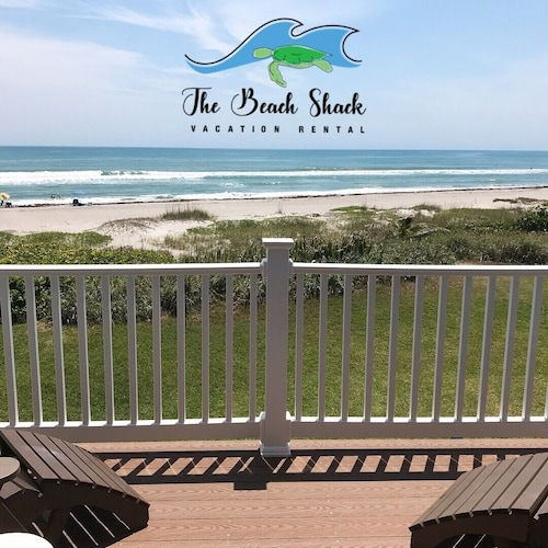 THE Beach Shack, a Luxury Oceanfront Townhouse on Quiet Corner of Indialantic!