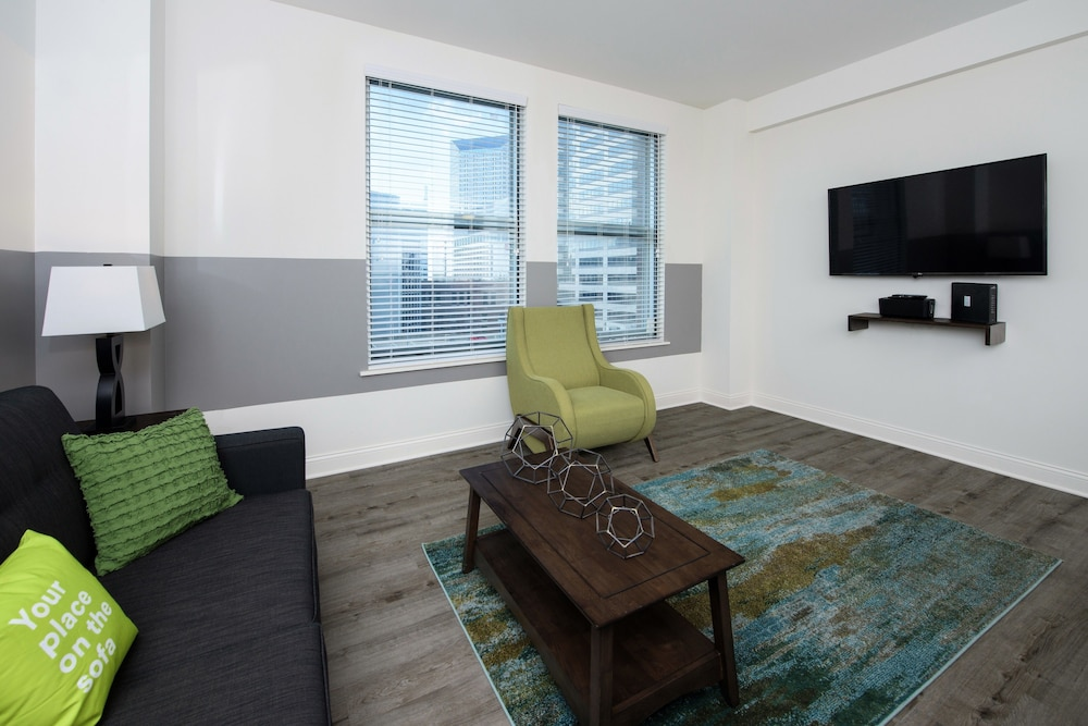 Living Area, Stay Alfred at Penn Street Tower