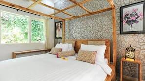 3 間臥室、房內夾萬、免費 Wi-Fi、床單