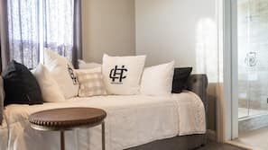 Premium bedding, down comforters, individually furnished