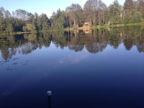 Check Expedia for Availability of Secluded Lake Cabin on 2 Acres With Sandy Swimming Beach, Dock and Sauna