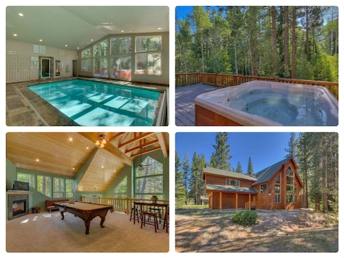 Riverside 6 Bed 6 Bath Indoor Pool & Hot tub & Sauna & Steam Shower In Tahoe !!