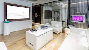 高級寢具、書桌、手提電腦工作空間、免費 Wi-Fi