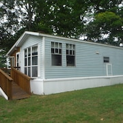 Darling Park Model Trailer Downtown Curtis With Views of South Manistique Lake