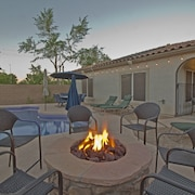 Check OUT This Huge Heated Pool AND Firepit FOR Chilly Nights!