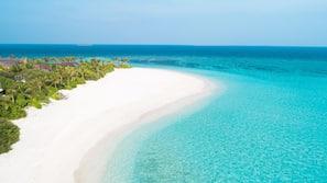 Private beach, white sand, scuba diving, snorkelling