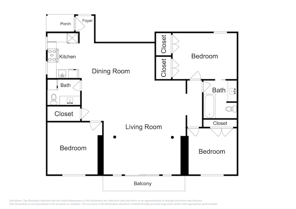 Floor plan, Updated 3br Near Downtown & Airport 3 Bedroom Duplex