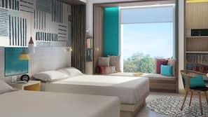 Egyptian cotton sheets, premium bedding, minibar, in-room safe