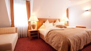 Allergikerbettwaren, Pillowtop-Betten, kostenlose Minibar, Zimmersafe