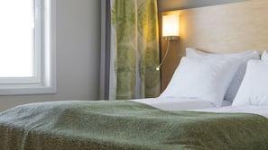 Minibar, lydisolert, wi-fi (inkludert) og sengetøy