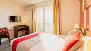 Premium bedding, individually furnished, desk, blackout curtains