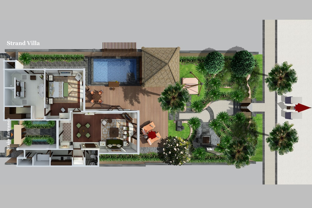 Floor plan, The St. Regis Bali Resort