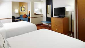 Hypo-allergenic bedding, pillowtop beds, in-room safe, desk