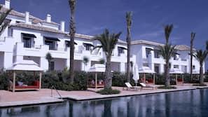 Indoor pool, 3 outdoor pools, open open 24 hours, pool umbrellas