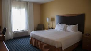 1 quarto, roupas de cama antialérgicas, cofres nos quartos, escrivaninha