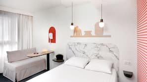 Select Comfort beds, individually furnished, desk, blackout drapes